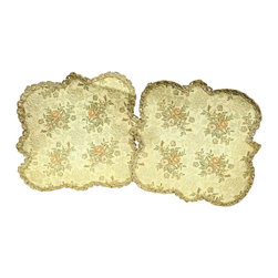 EuroLux Home - Pair of Trefoil Shaped Consigned Vintage French - Product Details
