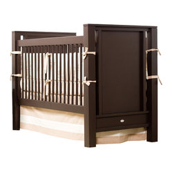 Newport Cottages - Ricki Crib - Clean lined and chic, this elegant crib is just the thing for your modern nursery. With sturdy hardwood construction and dual-level fixed gates, it provides the utmost in quality and safety. And with the option to convert it to a toddler bed, it's sure to keep your little one's room looking stylish for years to come.