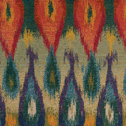 Oriental Weavers - kaleidoscope prism carpet (9x12) - The kaleidoscope collection is cross-woven of polypropylene and boasts up to 65 colors per rug. Designs showcase a dramatic array of bright, vibrant colors such as sunshine yellow, tangerine, hot pink and bright poppy while ultramarine blue, citron and chartreuse round out the assortment giving the playful colors more drama. In this collection more is definitely more; shade upon shade, texture upon texture, it offers an antiqued yet modern aesthetic.