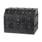 "Quickway Imports - Vintage Caribbean Pirate Chest - It's you little child time! he deserve a 'real' pirate chest, with this carbbian style pirate chest he will feel like no other then the famous 'Edward ""Blackbeard"" Teach' from the early 1700's, he will hyde all its 'treasures' in this beautifule decoravie pirate chest, and fill his time playfully."