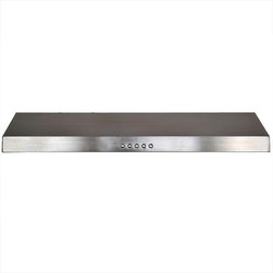 Cavaliere Hoods - Stainless Steel Under Cabinet Mount Range Hood - Cavaliere Stainless Steel 128W Under Cabinet Range Hood with 3 Speeds, Soft Touch Keypad, Aluminum Grease Filters, and Halogen Lights