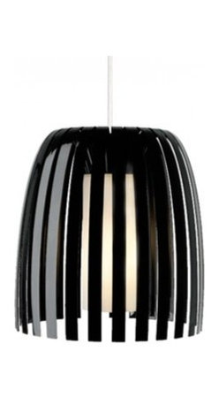 """Olivia pendant lamp - Products description: The Olivia line voltage pendant lamp from LBL Lighting is designed by Koziol of Germany and made in the USA. The Olivia line voltage pendant lamp is made for domestic and commercial use. This fixture has an elegant and graceful modern design consisting of 100% recyclable plastic which surrounds a hand-blown inner opal glass diffuser. This fixture has 6 feet of field-cuttable cord and is available in black, clear and smoke color with a satin nickel finish.   Products description: The Olivia line voltage pendant lamp from LBL Lighting is designed by Koziol of Germany and made in the USA. The Olivia line voltage pendant lamp is made for domestic and commercial use. This fixture has an elegant and graceful modern design consisting of 100% recyclable plastic which surrounds a hand-blown inner opal glass diffuser. This fixture has 6 feet of field-cuttable cord and is available in black, clear and smoke color with a satin nickel finish.                                      Manufacturer:                                      LBL Lighting                                                     Designer:                                      Koziol of Germany                                                     Made  in:                                     USA                                                     Dimensions:                                      Height: 13.3"""" (33.7cm) X Width: 12.3"""" (31.1cm)                                                     Light bulb:                                      1 X 60W BT15 E26 Incandecent or 1 X 32W GX24Q-3 Fluorescent                                                     Material                                      Metal, Recyclable Plastic, Glass"""