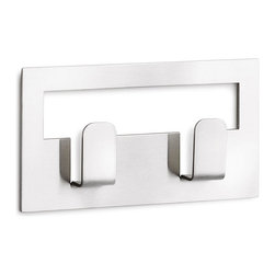 Blomus - Vindo Twin Towel Hooks - Why does everyone love hooks? Because you can hang something up without actually going to much trouble. It's an instant win for order over chaos. And in the case of sleek, stylish and simply designed towel hooks such as these, order is beautiful. Of course, if one set is good, two is always better.