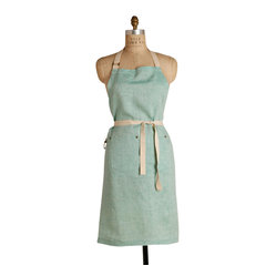 Birdkage - Mint Classic  Bib Apron - Cooking has never felt so fresh! This apron is roomy enough for a man-sized chef, and with rugged blue jean rivets and strong cotton ties, it can take anything you dish out.