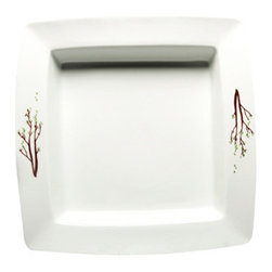 MarlaDawn - Square Serving Plate - These new tableware accessories coordinate with many contemporary dinnerware patterns.  Shown here in square.