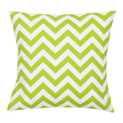 Look Here Jane, LLC - Chevron Chartreuse Pillow Cover - PILLOW COVER