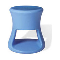 Tiki Stool - This outdoor stool was inspired by the funky 60s tiki mug barware. They are completely fun froth and come in tons of bright playful colors. The super durable stools can be used, abused and dragged around your patio and still look great as a side table when extra seating's not needed.