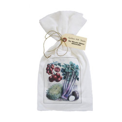 Celery/Tomatoes    Flour Sack Towel Set of 2 - A fabulous set of 3 flour sack towels. This set features a wonderful antique botanical print of Celery and Tomatoes.   These towels are printed in the USA by American Workers!