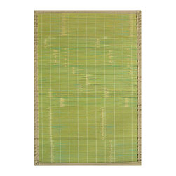 Anji Mountain - 2' x 3' Key West Bamboo Rug - Bamboo rugs have been a traditional floor covering in the Far East for centuries. They add a touch of organic, practical elegance to any space. Our bamboo rugs are made of the finest quality, sustainably harvested bamboo in the world for supreme durability. Kiln-dried bamboo is machine-planed and sanded for a smooth finish. This classic collection offers a variety of intriguing designs and brilliant colors to choose from.