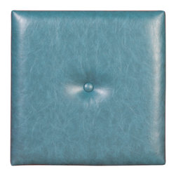 Howard Elliott - Howard Elliott Pixel Bucktown Turquoise 1 Inch Wall I w/ Button - Bucktown Turquoise 1 Inch Wall I w/ Button belongs to Pixel Collection by Howard Elliott Uplift your decor and create the perfect focal point in any room, in any size, any arrangement! These upholstered panels are used to create anything from interactive wall decor to headboards. Attach to your wall using our simple peel & stick method. These Wall Pixels feature a buttery faux leather. Headboard (1)