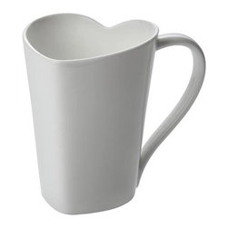 Alessi - Alessi To Mug - This lovely mug has been made with a lot of … love. Every time you take a sip of your coffee or tea, you'll be gently kissing the cup's heart-shaped lip. What a delicious way to start the day or end an evening.