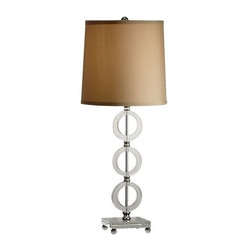 Murray Feiss 1-Bulb Polished Nickel Lamp