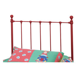 Hillsdale Furniture - Hillsdale Molly Twin Panel Headboard in Red - Adorable old fashioned kids bed is updated with festive and trendy colors: blue, green, red and yellow. A new spin on an old standard.