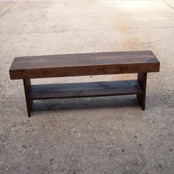Salvaged Wood Bench by Wayne's Woodworking - I am using this little guy in a project I'm working on. There are tons of finish options, and each one is unique! Such a great deal.