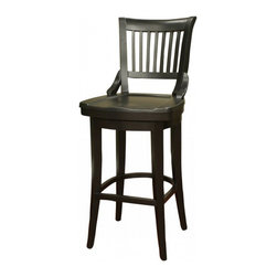 American Heritage - American Heritage Liberty 34 Inch Tall Barstool in Black - One our all time favorite stools. This Guilford stool is a perfect blend of craftsmanship and comfort. The mortise and tenon construction means it'll last. The scooped out wood seat means it offers great comfort. The swivel seat is an added bonus. What's included: Barstool (1).