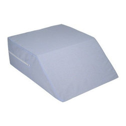 "Duro-Med Industries - Ortho Bed Wedge 8"" H x 20"" W x 24"" D - Mabis Ortho Bed Wedge, 8"" x 20"" x 24"" 555-8071-0123. Made of durable polyurethane foam. The removable polyester/cotton cover with zipper is machine washable."