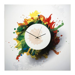 "Metal Art Studio - Splatter Clock - Size: 22""X22"""