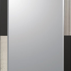None - Jasmine Modern Frame-less Bathroom Mirror - The beauty of modern design is encompassed in this Jasmine Modern bathroom mirror. The invisible mounting hardware included is designed to keep the top and bottom of the mirror flush against the wall.