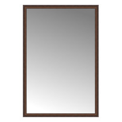 """Posters 2 Prints, LLC - 48"""" x 71"""" Banister Victorian-wal Custom Framed Mirror - 48"""" x 71"""" Custom Framed Mirror made by Posters 2 Prints. Standard glass with unrivaled selection of crafted mirror frames.  Protected with category II safety backing to keep glass fragments together should the mirror be accidentally broken.  Safe arrival guaranteed.  Made in the United States of America"""