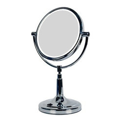 Zadro - LED Lighted Vanity Make-Up 1X 5X Mirror - Zadro's LED Lighted Vanity Mirror features dual-sided, optical quality glass to ensure a clearer reflection of your true self. On one side, the 5X magnification is great for touch-ups, detail, and make-up application. On the other side, the 1X magnification is perfect for all-around hairstyling, cosmetics, and every beauty need in between.