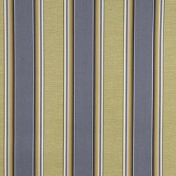 Blue Green And White Striped Indoor Outdoor Marine Upholstery Fabric By The Yard - This upholstery grade fabric can be used for all indoor and outdoor applications. It is Scotchgarded, and is mildew, fade, water, and bacteria resistant. This fabric is made in America!