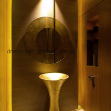 Contemporary Powder Room by drench bath and spa design