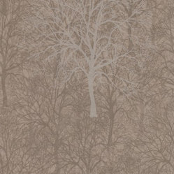 Mode Enchant Pattern Wallpaper in Golden Brown