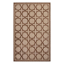 Jaipur Rugs - Moroccan Pattern Polyester Taupe/Tan Indoor-Outdoor Area Rug ( 3x5 ) - These Catalina rugs will add a pop to any outdoor space with its rich inspiration from Moroccan trellis and tile patterns.