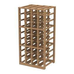 EcoWineracks 4 Column Lower Individual Bottle Rack, Natural Color, Clear Acrylic - EcoWineracks are the worlds only traditional style wine racks made from non-forested and sustainable bamboo. Bamboo is superior to wood in strength and durability, is non-warping and has consistent grain.