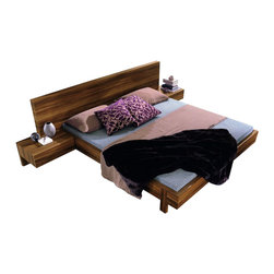 Rossetto - Rossetto Gap Platform Bed 3 Piece Bedroom Set in Walnut - Rossetto - Bedroom Sets - T3046013X30013PcBedPKG - Rossetto Gap Platform Bed in Walnut (included quantity: 1) Gap is elegant, strealined, and exclusive, offering a combination of materials, perfectly contrasting to create a striking exterior design.