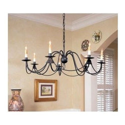 Currey & Company - French Nouveau Chandelier by Currey & Company - The Currey and Company French Nouveau Chandelier creates a layer of warm and inviting illumination in a low-profile design well-suited for rooms with lower ceilings. The French Nouveau Chandelier features a wrought iron body and an Antique Bronze finish.Currey and Company creates history by acknowledging traditions from the past and by producing rare and enduring innovative products.The Currey and Company French Nouveau Chandelier is available with the following:Included Features:Seven electric candles with wax-drip details.Hand-forged, wrought iron body.Antique Bronze finish.36 in. chain.UL Listed.Lighting: Seven 60 Watt 120 Volt Type B Candelabra Base Incandescent lamps (not included).Please Note: The included wire length allows for an additional three sections of 3-ft. chain. Please call Customer Service for additional chain lengths.Shipping:This item usually ships within five business days.