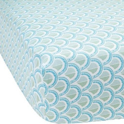 Serena & Lily - Celadon Scale Crib Sheet - I love the pattern on this crib sheet. It's great quality at an affordable price.