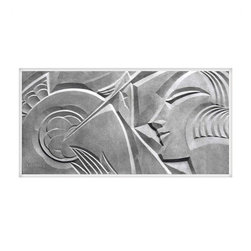 Gallery Relief No. 1 - Unframed Small - This print is of an art deco relief by Leon Leyritz originally created circa 1929 Paris, France. It is one of a series depicting artisans at work and is an excellent example of the distinct style of the artist. In this period photograph, the Artists typical use of strong angular elements interacts with the highlights and shadows of the light skimming the relief's surface. Leon Leyritz (1888 - 1976) was a noted sculptor and artist in Paris at the turn of the century. He worked in many materials including bronze and ceramics. He also painted frescos, produced bas-reliefs, and designed theatre sets. Many of his porcelains are modeled after theatrical characters.  ̢���� Limited edition of 100 giclee prints  ̢���� Archival inks and archival paper Print is also available in the following sizes, framed and unframed. Please contact support@chairish to inquire. ̢����Gallery Relief No. 1 - Unframed Large - 35.0�_�W ��� 1.0�_�D ��� 18.5�_�H - $450 ̢����Gallery Relief No. 1 - Framed Small - 22.0�_�W ��� 1.0�_�D ��� 11.75�_�H - $450 ̢����Gallery Relief No. 1 - Framed Large - 35.0�_�W ��� 1.0�_�D ��� 18.5�_�H - $775