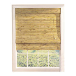 Lewis Hyman - Kona Roman Shade w Built-In Valance in Natura - Choose Size: 35 in. W x 72 in. LThe textural look of this woven bamboo and wood Roman shade will add visual interest to any decor. The shade is available in your choice of sizes and is enhanced by a natural finish that will be a warm, island inspired accent. Made from Bamboo and Wood. 6 in. built-in valance. Light filtering provides privacy. Energy-efficient Insulation. Elegant and lushy shade. Easy to install. Minimal assembly requiredInviting relaxation and soothing cool breezes into