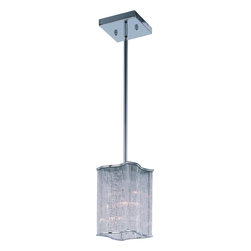 "Maxim Lighting - Polished Chrome 3 Light Mini Pendant from the Elle Collection - Width is 8.75"", Height is 10"" Maximum Overall Height is 55"" Crystal Accents"