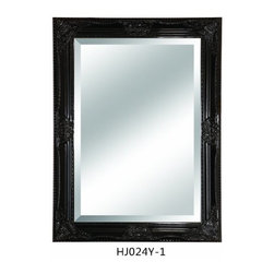 Lofty - Mercer Black Finish Mirror 30 x 42 - Lofty Mercer HJ024Y1 Black Finish Wood Framed Mirror