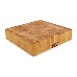BoosBlock Square Maple Butcher Block Cutting Board - Love this thick maple butcher block - this is the sort of thing you can't have too many of. I like collecting multiple shapes and sizes.