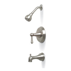 Premier - Sonoma Tub and Shower Faucet - Brushed Nickel - Premier 120150 Sonoma Single-Handle Tub & Shower Faucet, Brushed Nickel.