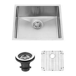 Vigo Industries - 23 in. Undermount Single Kitchen Sink - Includes grid, strainer drain and mounting hardware.