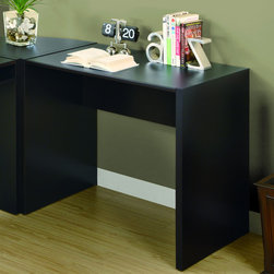 Monarch - Cappuccino Hollow-Core Computer Desk - Stay organized wit this hollow-core computer desk. A cappuccino finish and thick panel construction highlight this spacious desk.