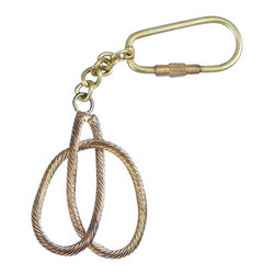 "Handcrafted Model Ships - Brass Clove Hitch Knot Key Chain 5"" - Brass Key Ring - Used for innumerable purposes, from fastening sails, to gaining mechanical advantages lifting gear, and rescuing sailors overboard, knots craft is both an vital science and fascinating art work. Used aboard ships since the dawn of sailing, knot work is found throughout any sailing vessel. Give this solid brass clove hitch knot key chain to friends and family as a charming nautical symbol, and protect any keys with the same assurance as knots would sailors at sea."