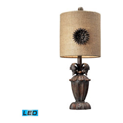 Dimond Lighting - Dimond Lighting Orde Mini Lamp w/ Metal Flower Dicor Shade - LED Offering Up To - Mini Lamp w/ Metal Flower decor Shade - LED Offering Up To 800 Lumens belongs to Orde Collection by Dimond Lighting Lamp (1)