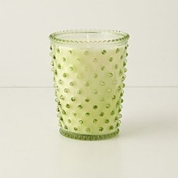 """Anthropologie - Simpatico Hobnail Candle - 80 hour burn timeVegetable wax blend, essential and fragrance oils5""""H, 4"""" diameter16 ozUSA"""