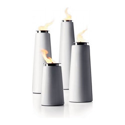 Lighthouse Outdoor Torch - These torches were made for the modernist who loves a little outdoor flame but doesn't love kitschy tiki style.