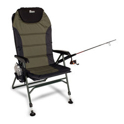 Earth Products Store - Earth Ultimate 4-Position Outdoor & Fishing Chair W/ New Adjustable Front Legs - These Revolutionary Fishing Chairs Come with (4) Different Back Positions and (2) Totally Adjustable Front Legs. Reclines & Also Fits to Any Sloping Shoreline or Uneven Ground  Fishing Made More Comfortable!