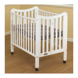 Orbelle Tian Two Level Portable Crib, White - A portable crib that actually looks like a real crib? Who would have thought? It's on wheels too, perfect for being on the move.