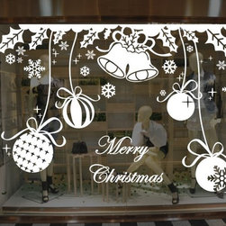 ColorfulHall Co., LTD - Decals For Walls Christmas Balls Tinkle Bells - Decals For Walls Christmas Balls Tinkle Bells