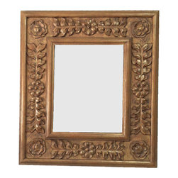 Fancydecor - Decorative French Mirror Frame Solid Carved Wood, Natural Nude - SOLID Frame Mirror carver