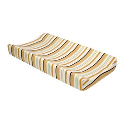 Trend Lab - Trend Lab Morgan the Monkey Changing Pad Cover - 109925 - Shop for Baby Changing Table Sheets and Pad Covers from Hayneedle.com! Add a touch of modern style to your nursery with the Trend lab Morgan the Monkey changing Pad Cover. This durable changing pad cover features a stripe pattern in beige ivory seafoam green and brown. This color palette is soothing and done in neutral tones to match any decor. The cover is made of soft comforting cotton fabric to soothe your little one. Protect your changing pad with this machine-washable cover and look good doing it with this great changing pad cover.About Trend LabFormed in 2001 in Minnesota Trend Lab is a privately held company proudly owned by women. Rapid growth in the past five years has put Trend Lab products on the shelves of major retailers and the company continues to develop thoroughly tested high-quality baby and children's bedding decor and other items. Trend Lab continues to inspire and provide its customers with stylish products for little ones. From bedding to cribs and everything in between Trend Lab is the right choice for your children.