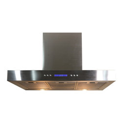 Kokols - Kokols 30- inch Wall Mount Stainless Steel Range Hood Vent - Featuring a stylish modern design in high-quality stainless steel,this range hood includes ultra-quiet motors and a 3-speed touch-sensitive electronic LCD control panel